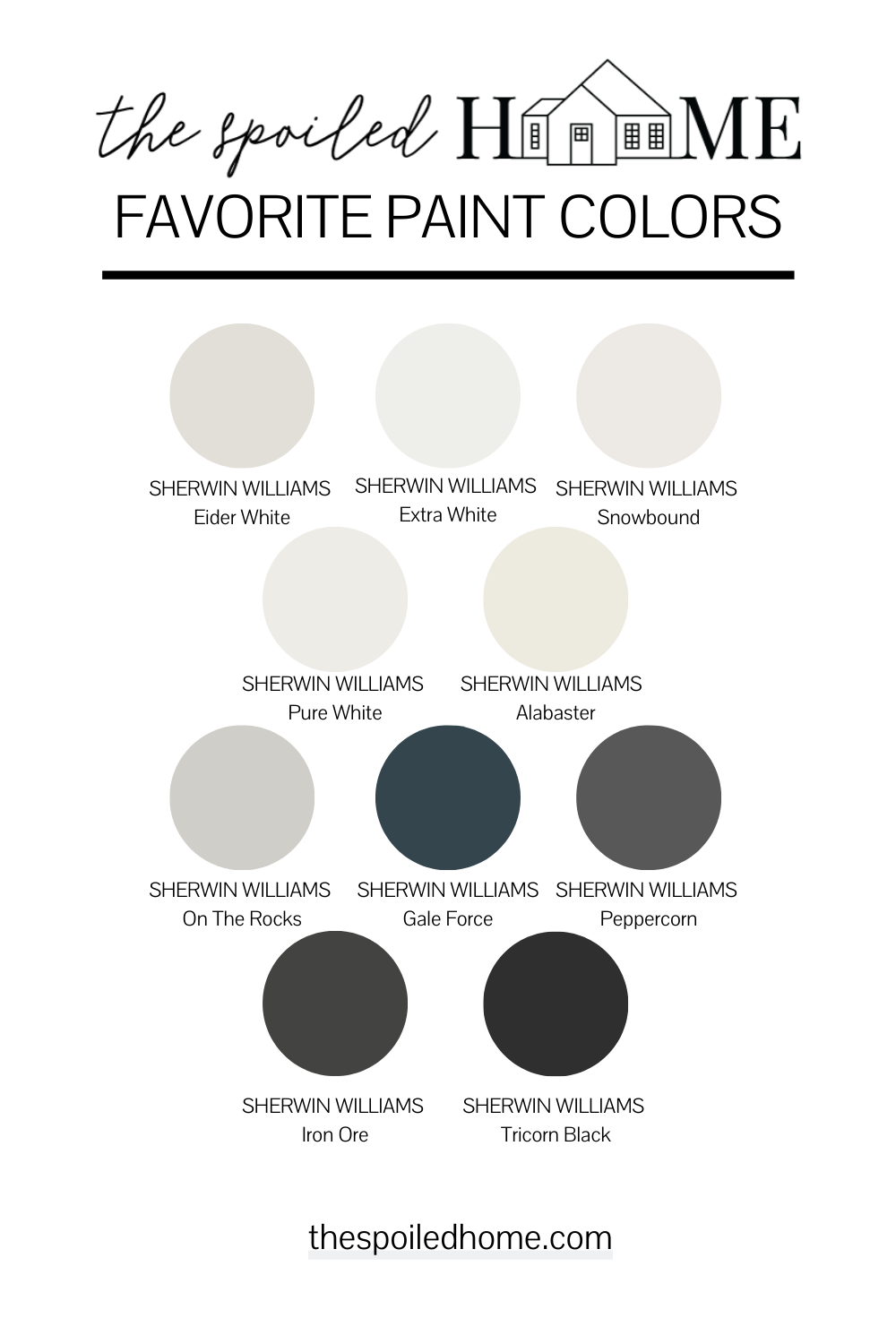 Paint Colors in Shalia's Home