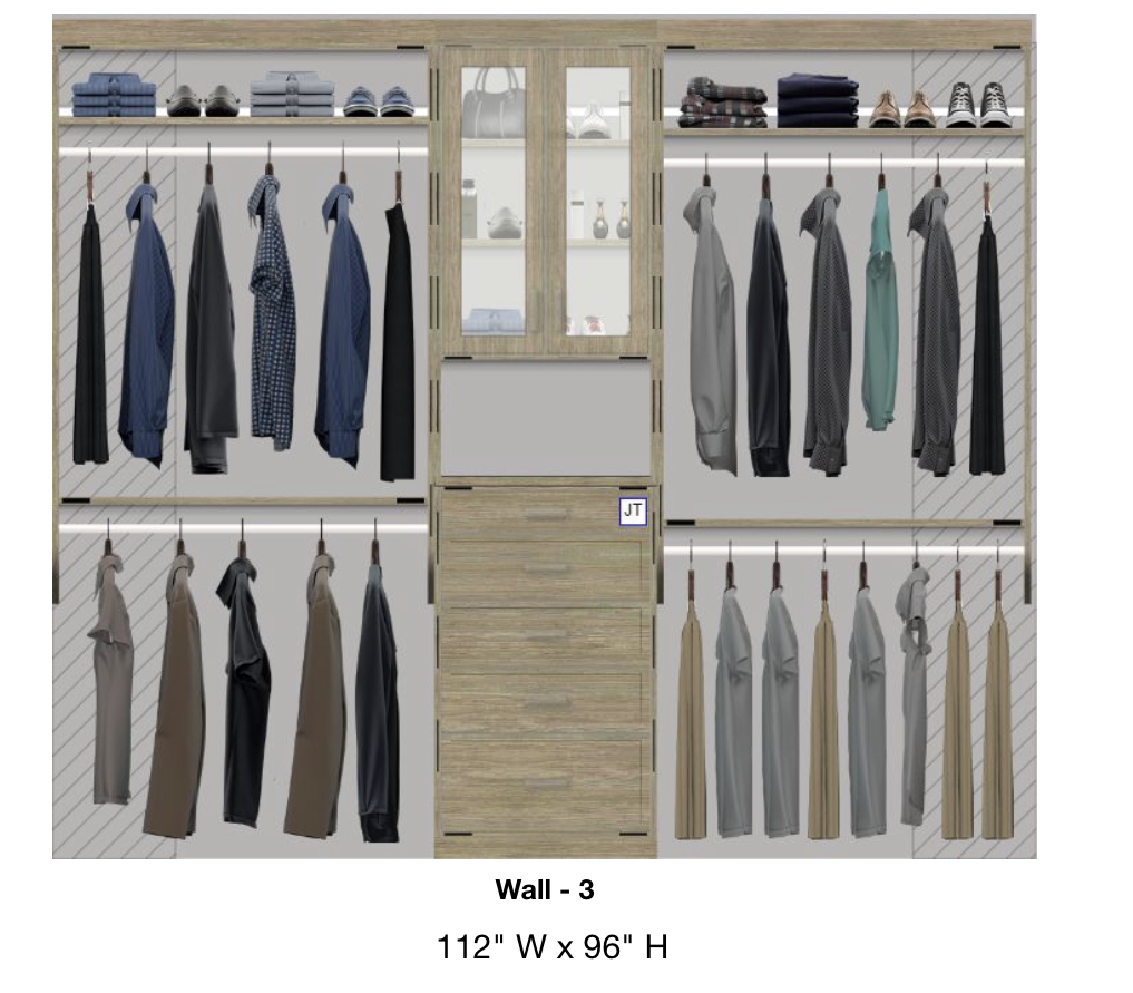 Inspired Closets 3D Rendering