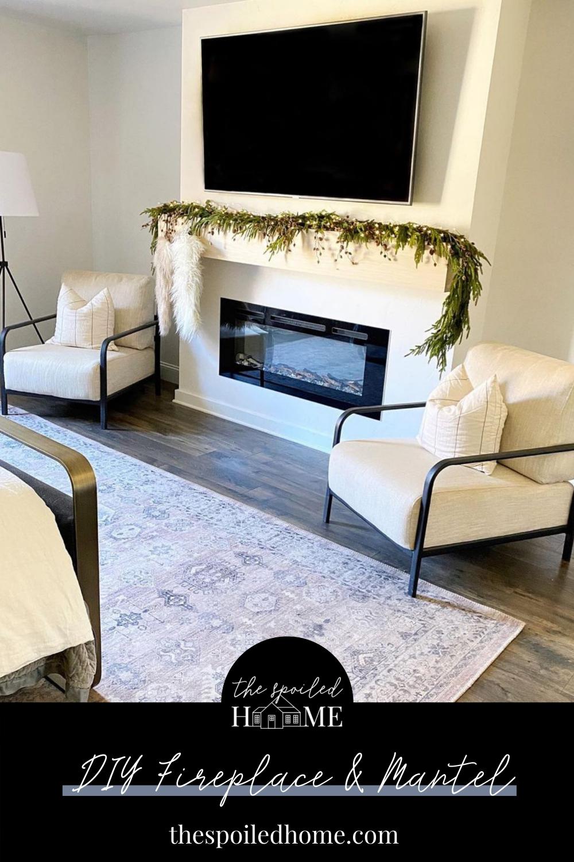 DIY Fireplace and Mantel