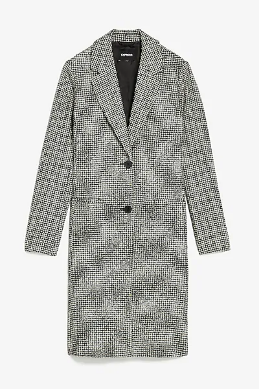 Express - Houndstooth Two Button Car Coat